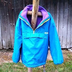 vtg reversible fleece or rain pullover